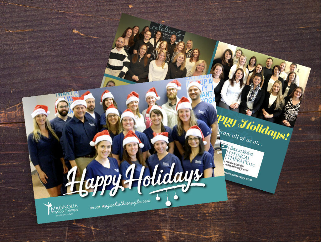 Staff holiday postcard