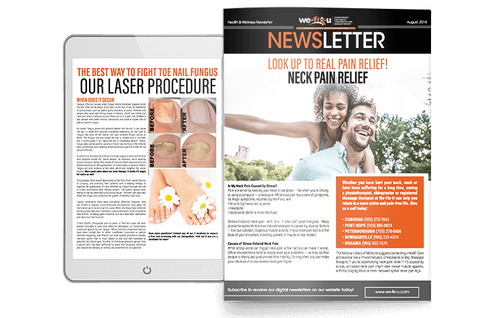 neck pain physical therapy newsletter design