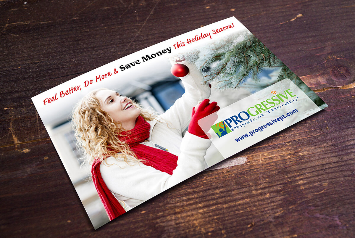 Physical therapy holiday postcard