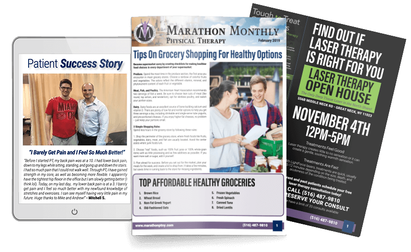 Marathon physical therapy newsletter sample