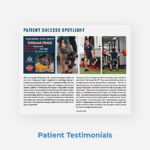 Professional Care PT Custom Topic Patient Testimonial Newsletter