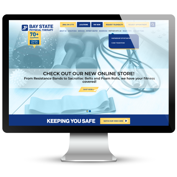 Bay State Physical Therapy Website