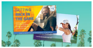 summer postcards for physical therapy