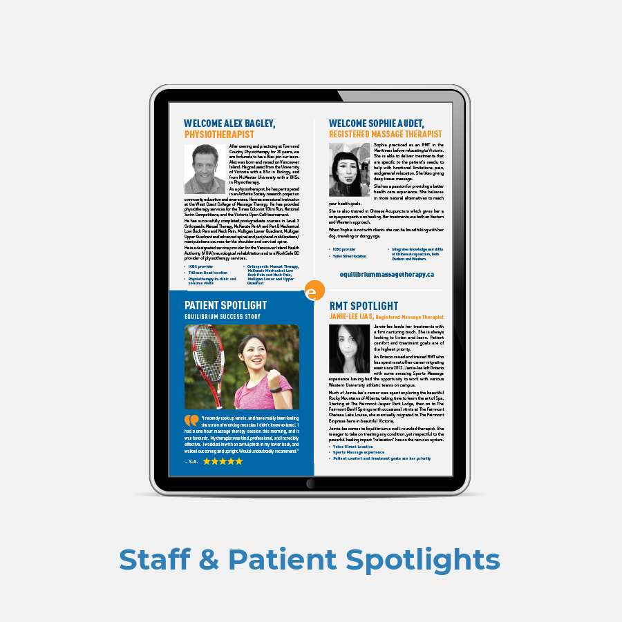 Equilibrium PT Newsletter Staff And Patient Spotlights