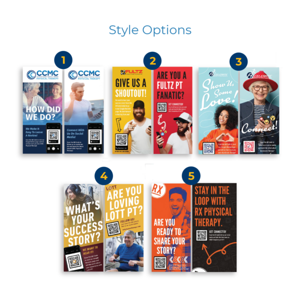 Patient Review Rack Card Styles