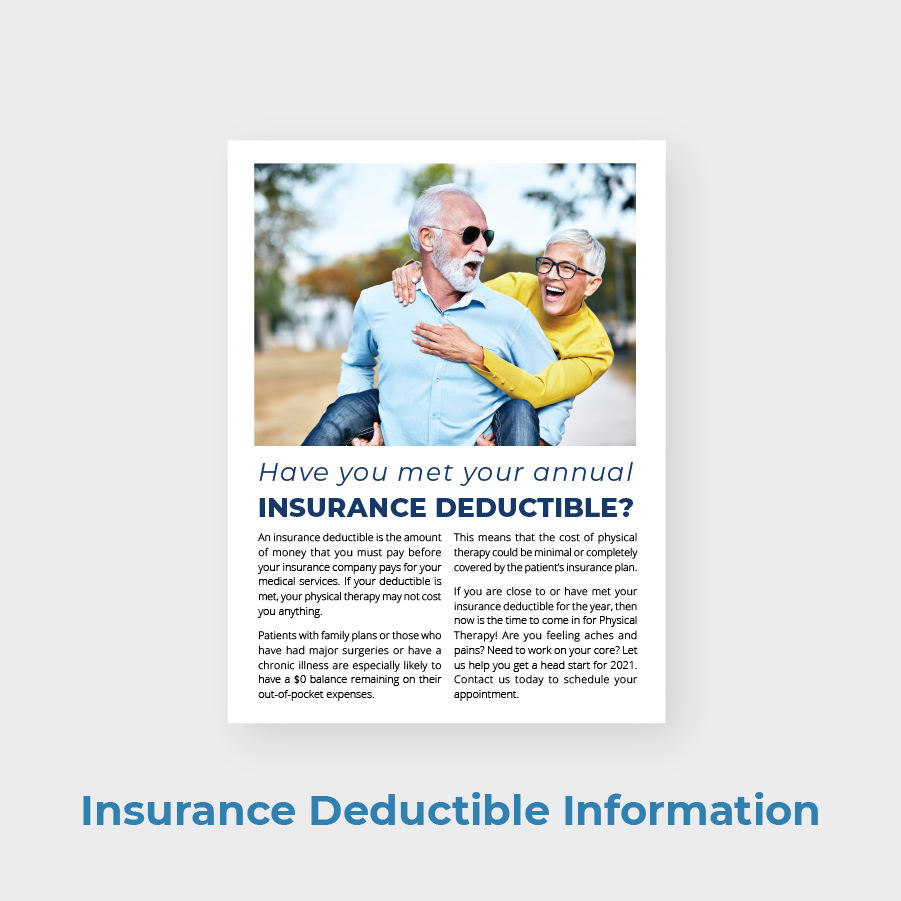 Austin Manual Therapy PT Newsletter Insurance Deductible Information