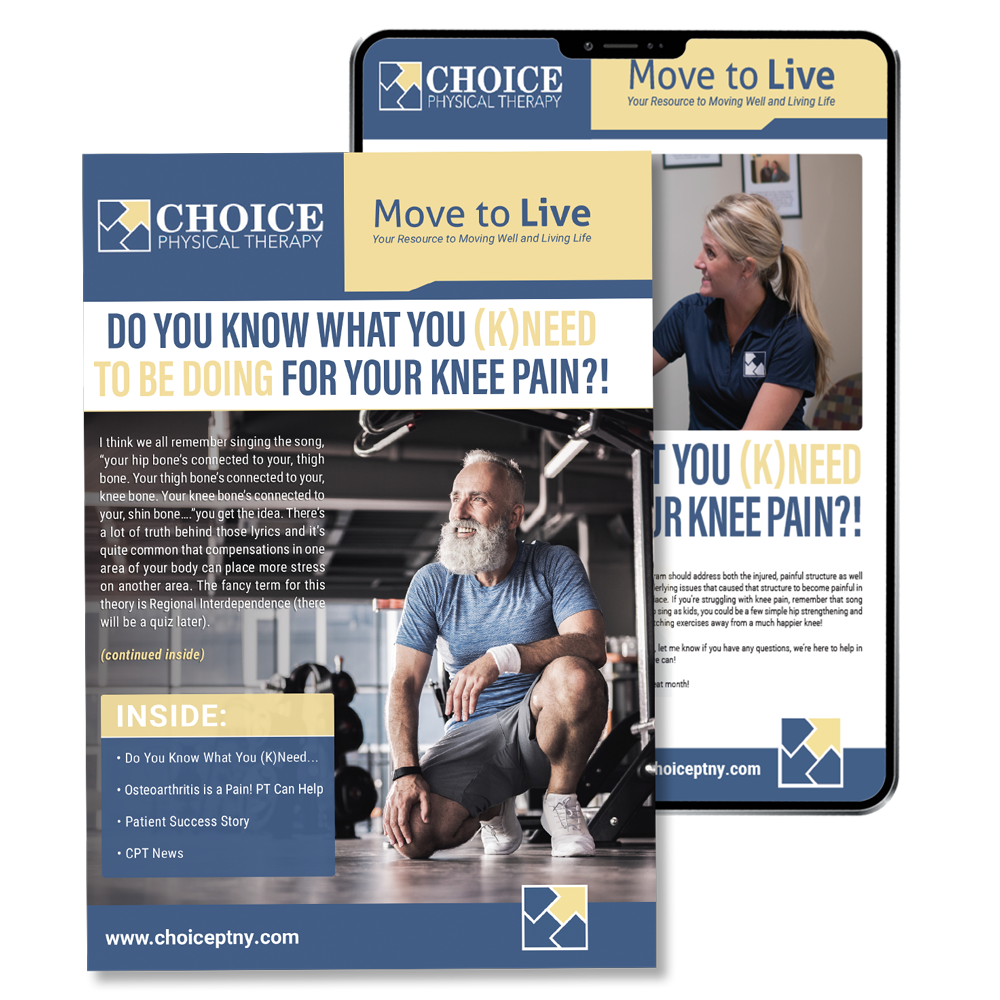 Choice PT Patient Newsletter Sample