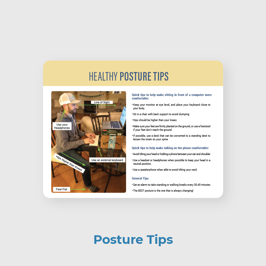Choice PT Patient Newsletter Sample Posture Tips