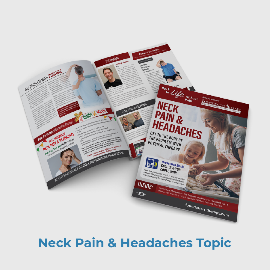 Foundation PT Patient Newsletter Sample Neck Pain And Headaches
