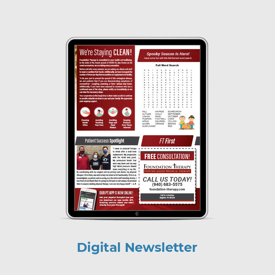Foundation PT Patient Newsletter Sample Digital