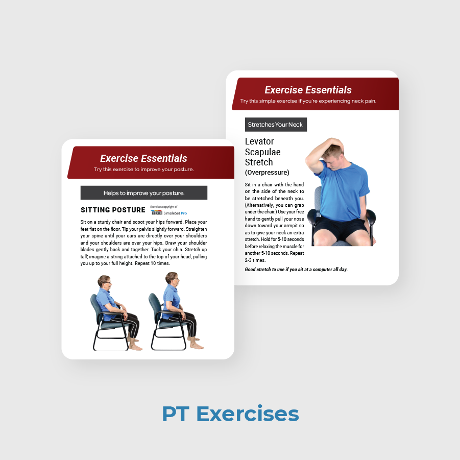 Foundation PT Patient Newsletter Sample PT Exercises