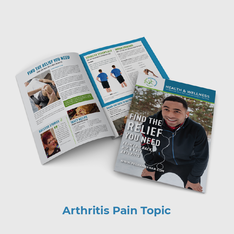Pelham Physical Medicine PT Newsletter Arthritis Pain Topic