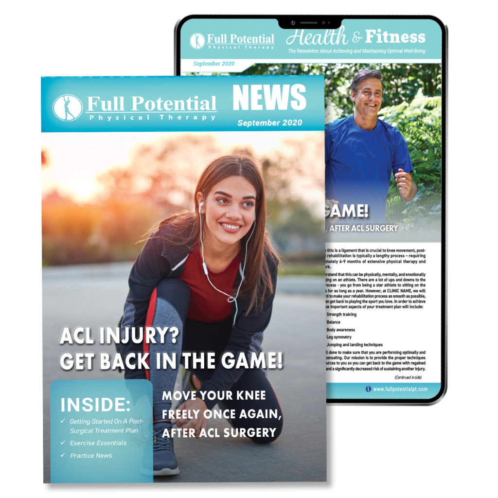 Full Potential PT Patient Newsletter