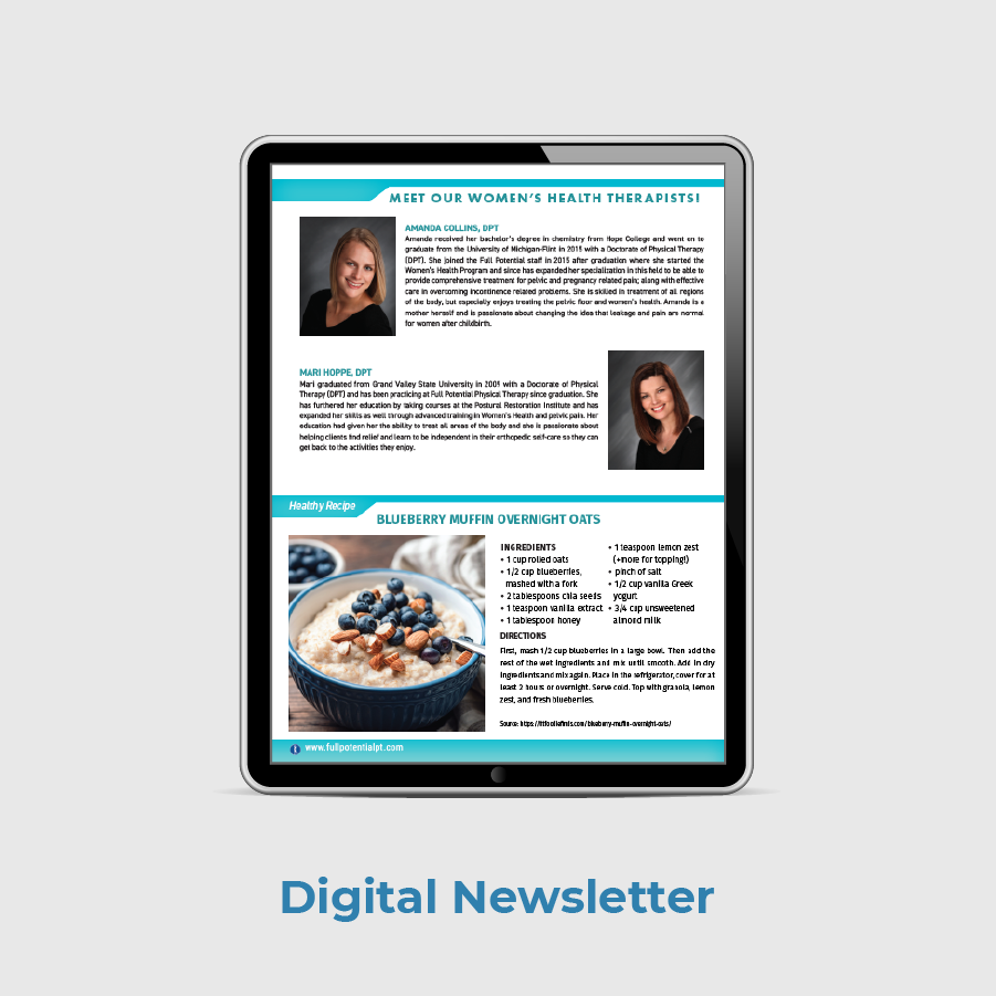 Full Potential PT Patient Digital Newsletter