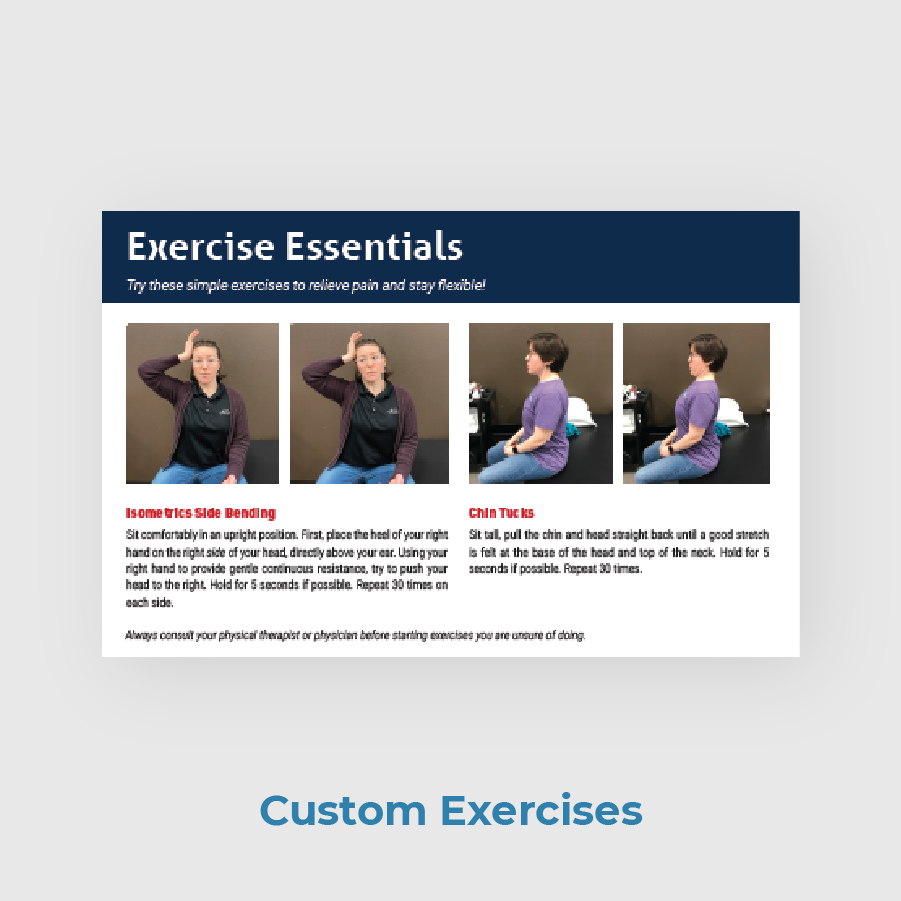 Lonoke PT Patient Newsletter Custom Exercises