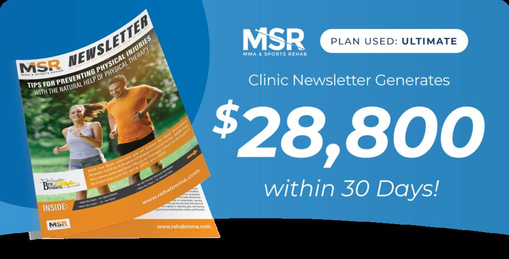 MSR PT Newsletter Results
