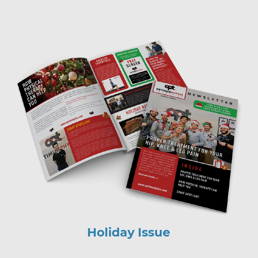 Optimum Physio Therapy Holiday Newsletter