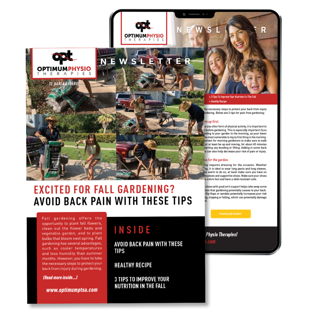 Optimum Physio Therapy Patient Newsletter