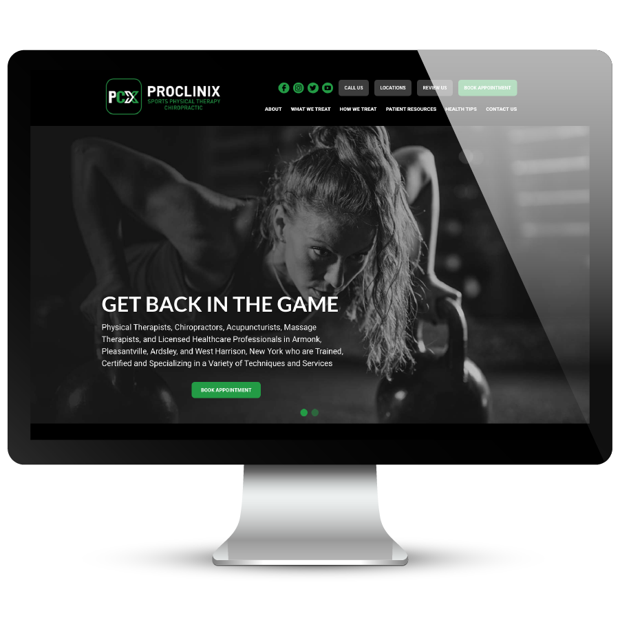 ProClinix Physical Therapy Website
