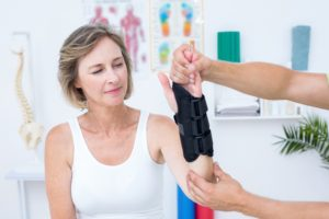 woman in physio therapy